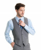 Vest Matching Light grey Suit style N8GC